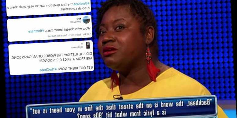The Chase fans left fuming as contestant mixes up Oasis and The Spice Girls in 'unforgivable' blunder