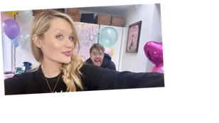 Laura Whitmore stuns at surprise virtual baby shower at home ahead of welcoming baby with Iain Stirling