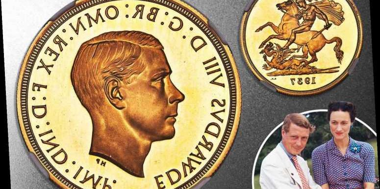 Ultra-rare gold Edward VIII £5 coin sells for record-breaking £1.65million