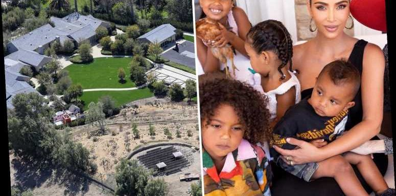 Kim Kardashian builds entire play village for kids featuring mini KKW Beauty 'boutique' in backyard of $60M mansion