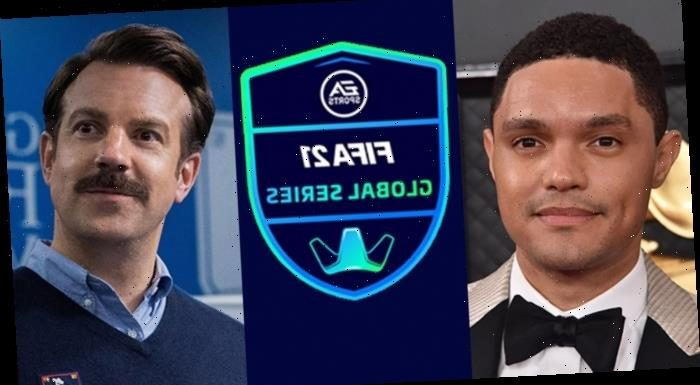 """Trevor Noah & Jason Sudeikis As """"Ted Lasso"""" To Compete In 'FIFA' Gaming Show For EA Sports"""