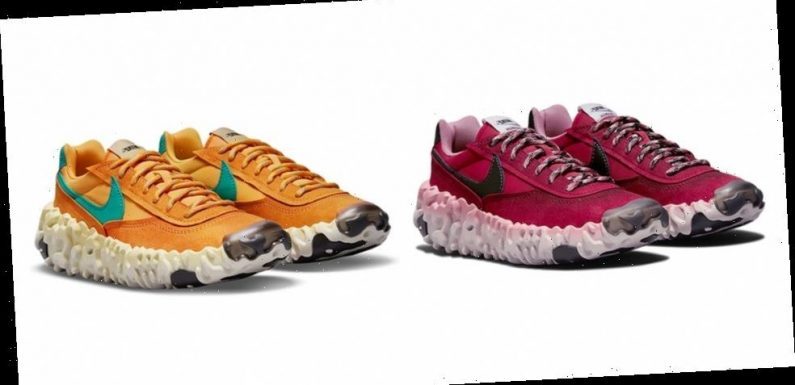"""Nike OverBreak SP Receives Bold """"Dark Beetroot"""" and """"Pollen Rise"""" Makeovers"""