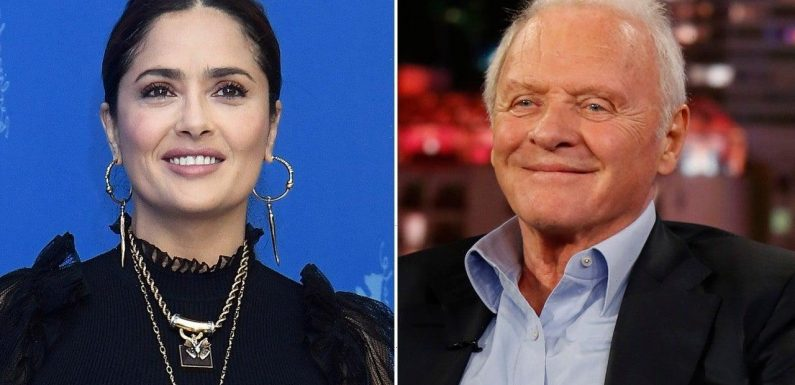 Anthony Hopkins Dances With Salma Hayek to Celebrate His Oscar Win