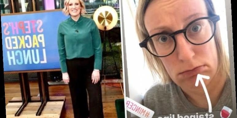 Steph McGovern seen with 'stained lips' after 'too much' wine as she drags herself for run