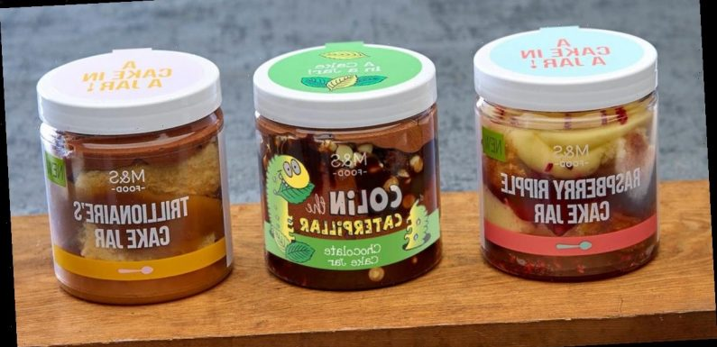 M&S unveils Cake Jar desserts in three flavours including Colin the Caterpillar