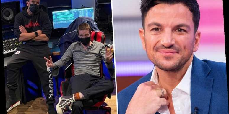 Peter Andre records new music with Kaiser Chiefs frontman Ricky Wilson in his latest unusual collaboration