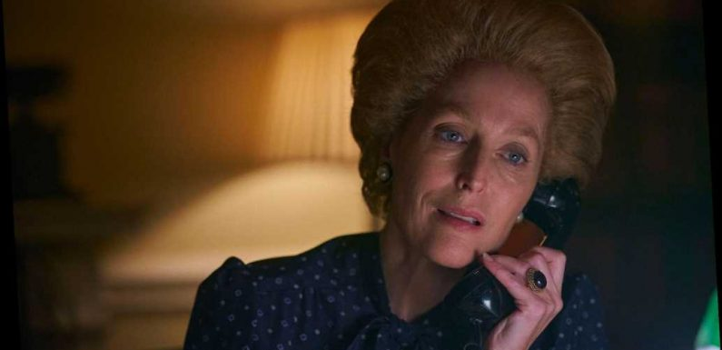 The Crown's Gillian Anderson Thanks Ex Peter Morgan for Creating Role that Won Her 2021 SAG Award