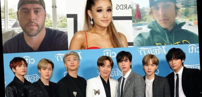 Justin Bieber and Ariana Grande Receive $10M Payout After Scooter Braun's Deal With BTS' Agency