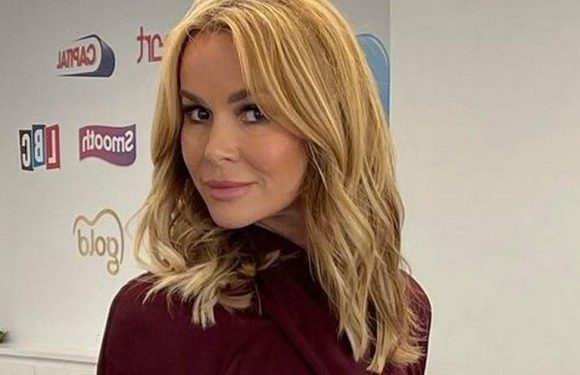 Amanda Holden ditches bra as she wows in paper-thin blouse for work snap
