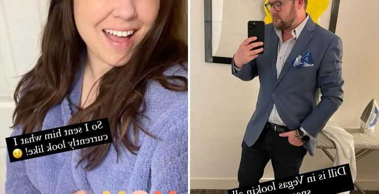 Amy Duggar proudly shows off pic of 'snazzy' husband Dillion King as the ex-reality star jokes about her 'mom life' look