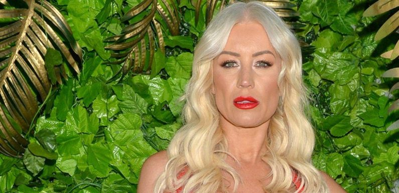 Denise Van Outen dons suspenders and corset to celebrate cabaret show re-opening