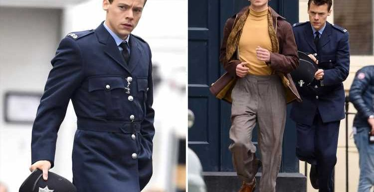 Harry Styles transforms into handsome cop after Brits success as he films in Brighton