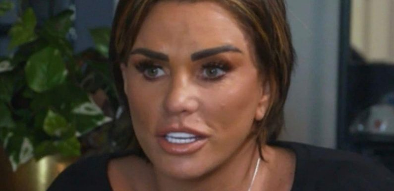 Katie Price scolds 'unfair' fiancé Carl Woods after he leaves hair in her bath