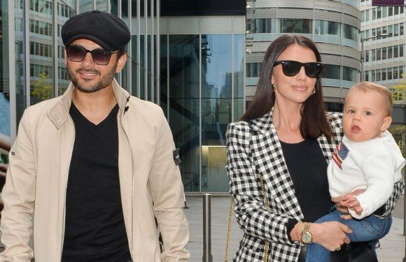 Lucy Mecklenburgh looks glam as she steps out with Ryan Thomas and son Roman to reunite with family