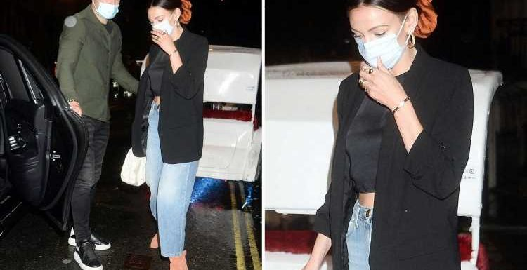 Michelle Keegan looks glam as she enjoys rare date night with husband Mark Wright at Sexy Fish in London
