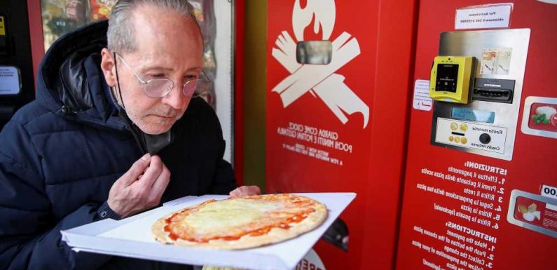 Rome's new pizza vending machine panned by critics