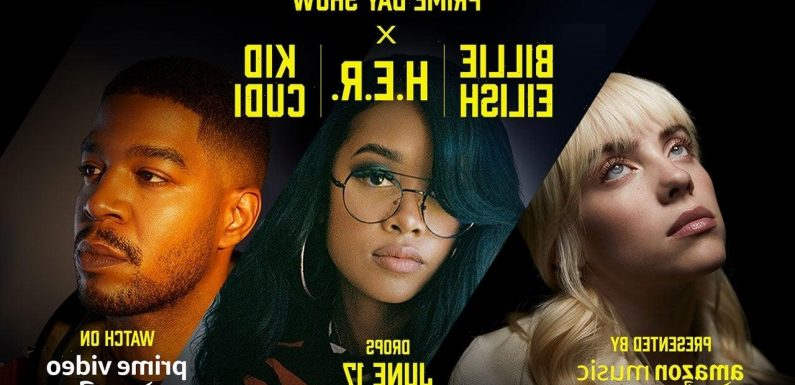 Billie Eilish, H.E.R. and Kid Cudi to Perform in Amazon Prime Day Show