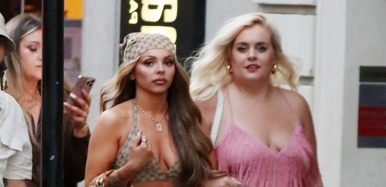 Jesy Nelson shows off her abs as she dons '90s look for 30th birthday celebrations