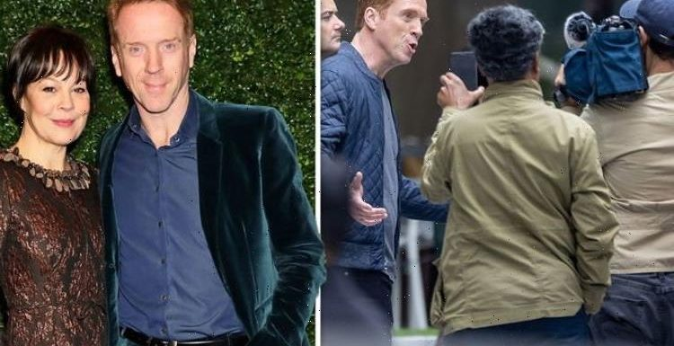Damian Lewis spotted at work for first time since heartbreaking death of Helen McCrory