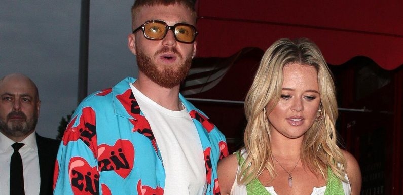 Emily Atack flashes knickers in see-through dress as she parties with new man