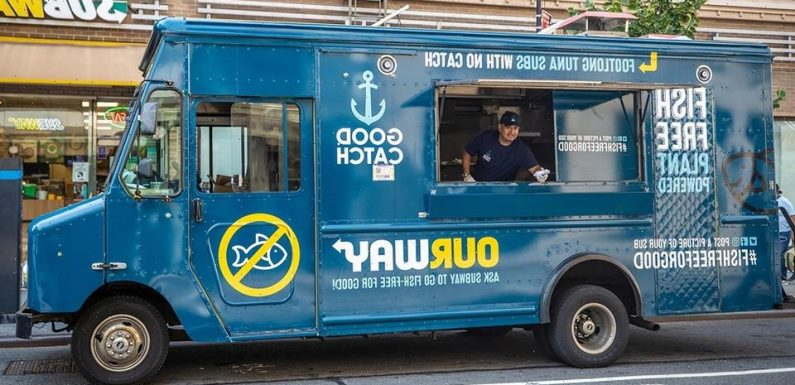 Good Catch Food Vans Post up by Subways Promoting Fish-Free Alternative