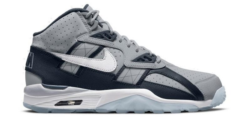 """Nike Air Trainer SC High """"Wolf Grey/Obsidian"""" Gives Off Georgetown Hoyas Vibes"""