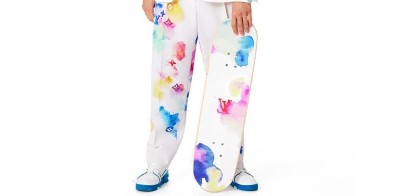 This Louis Vuitton Watercolor Skateboard Setup Will Set You Back $2,660 USD