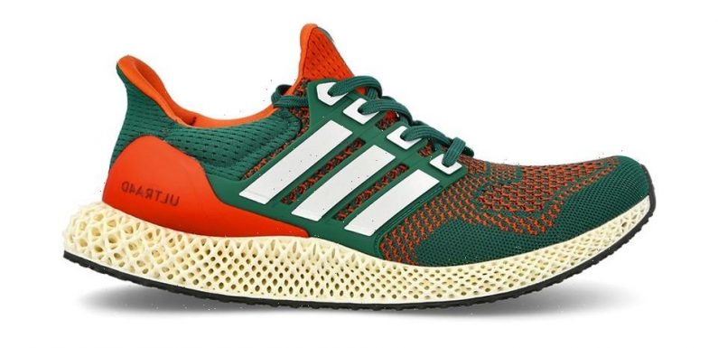 """adidas Fits the Ultra4D in """"Miami Hurricanes"""" Colors"""