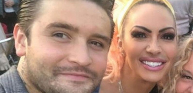 Jodie Marsh beau in hospital dash as skin turns to rock after ice pack horror
