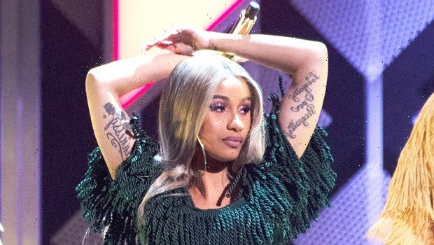 Pregnant Cardi B Rocks A Lacy Bra & Jokes About Her 'New Bra Size' In Sexy New Photo