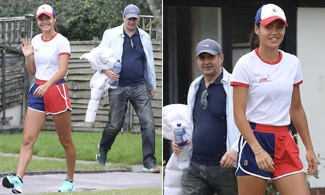Back to reality! Emma Raducanu is spotted near her Bromley home