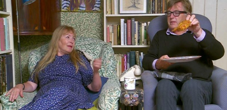 Gogglebox viewers in hysterics as Giles shows wife Mary his X-rated croissant