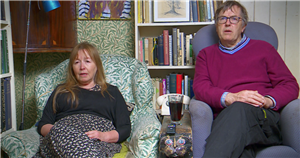 Gogglebox's Giles and Mary share their wedding photo and fans think shes Marianne Faithfull