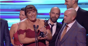 Goggleboxs Julie Malone pays tribute to cast members who have died during NTAs speech