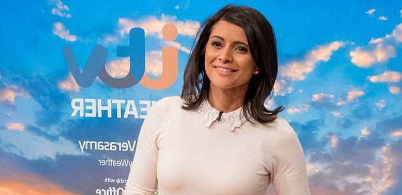 ITV weather girl Lucy Verasamy flaunts toned pins in skintight leggings on hike