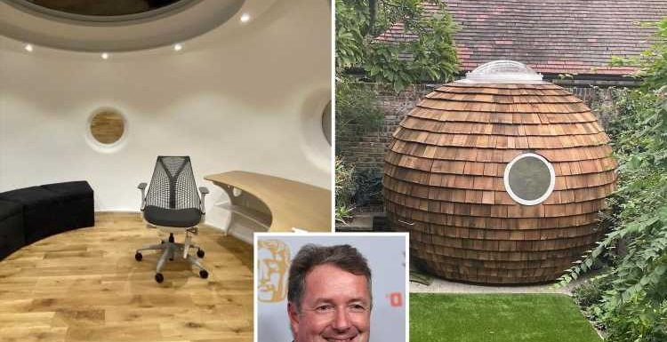 Inside Piers Morgan's incredible new 'man cave' in his garden in London