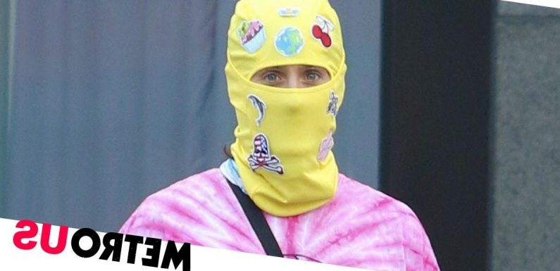 Jared Leto is total mood in bright yellow ski mask for low-key New York stroll