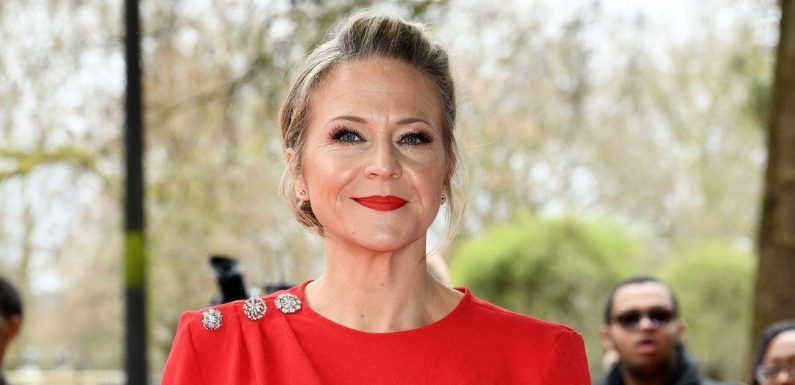 Kellie Bright says newborn flew out as quick labour only took two hours