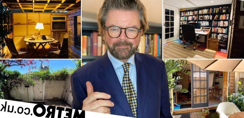 Man with no DIY experience builds luxury office shed in garden for £6,000