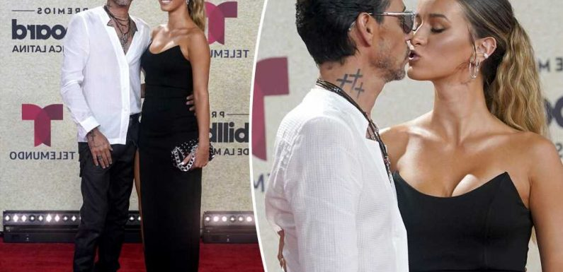 Marc Anthony and girlfriend Madu Nicola make PDA-filled red carpet debut