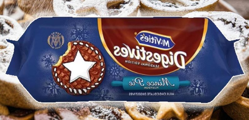 McVities launch mince pie flavour chocolate digestives to kick off Christmas