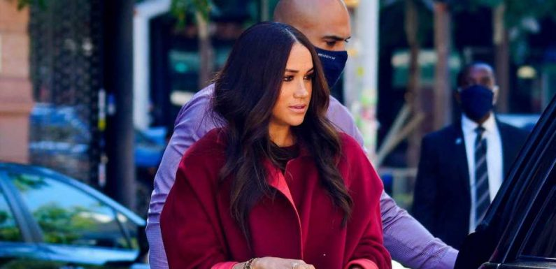Meghan Markle's Monochrome Outfit Is Autumnal Perfection