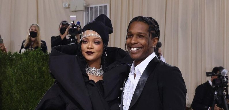 Rihanna stuns in glam black dress during Met Gala date night with beau ASAP Rocky