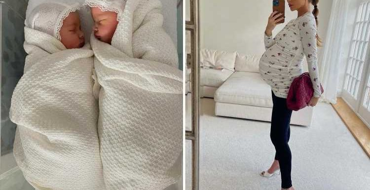 Towie star Georgina Cleverley gives birth to twins with footballer husband and shares their unusual names