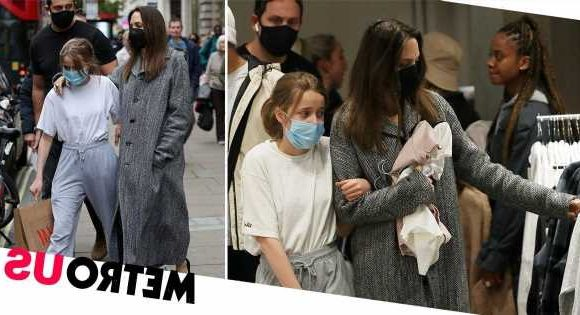 Angelina Jolie stuns fans on casual shopping trip on Oxford Street with daughter