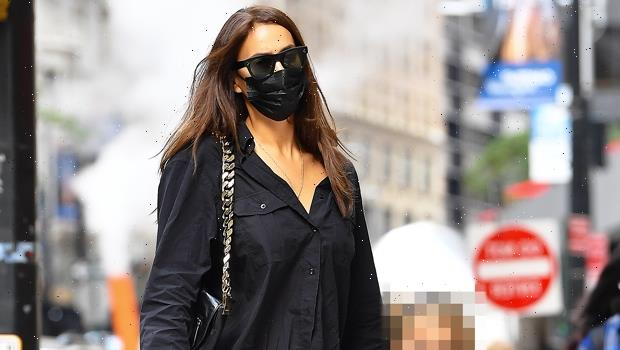 Irina Shayk Holds Hands With Daughter Lea, 4, While Strolling Through NYC