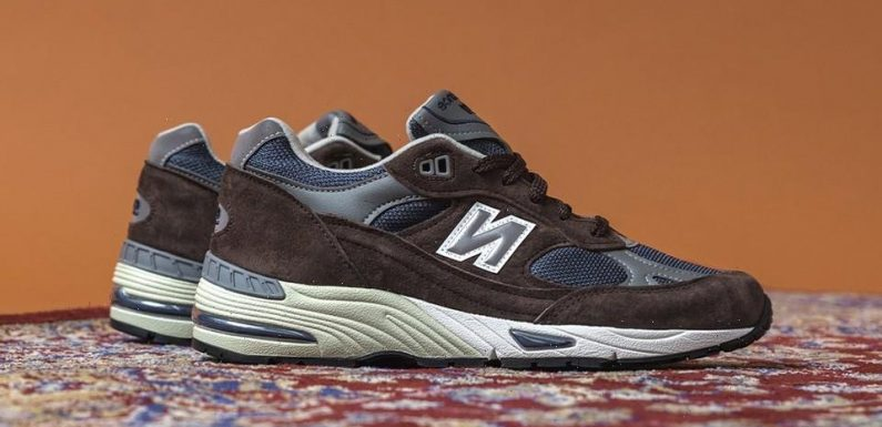 """New Balance Dresses Its 991 Made in U.K. in a Sophisticated """"Brown/Navy"""" Palette"""