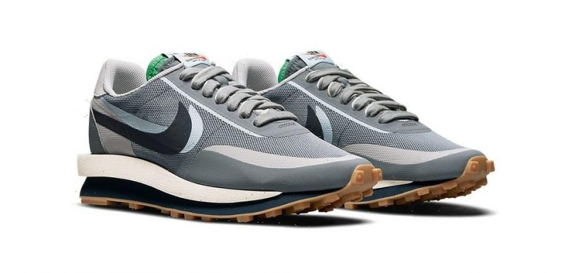 """Official Images of the CLOT x sacai x Nike LDWaffle """"K.O.D. 2"""" in """"Obsidian Grey"""""""